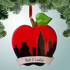 hobbies ornaments new york big apple skyline personalized free