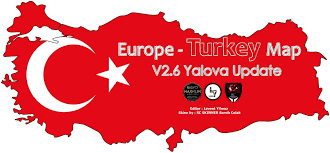 Turkey Map Europe by Europe U0026 Turkey Map V2 6 Mod Euro Truck Simulator 2 Mods