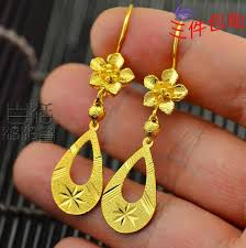 gold bridal earrings chandelier 999 thousand gold 24k gold stud earrings bridal earrings