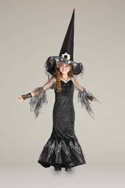 storybook witch girls costume tall hat spiderweb witch costume for girls chasing fireflies