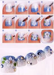gradient toe nail designs step by step tutorial for beginners