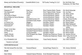 musical theatre resume examples theatrical resume template