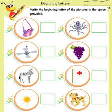 lkg mathematics english and general awareness worksheets
