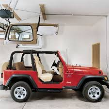 how to store jeep wrangler top harken hoister jeep top truck cap lift system 45 145 pounds 10