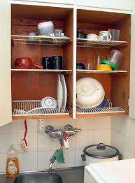 what size cabinet above sink dish drying cabinet
