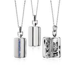 monica rich kosann sapphire rectangular locket in sterling silver