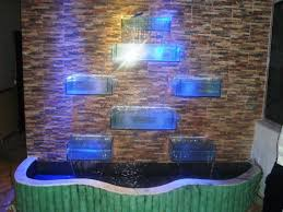 Contemporary Indoor Water Fountains by Outdoor And Patio Modern Wall Fountains With Glass Lighting Box