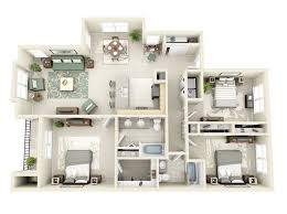 "50 Three ""3"" Bedroom Apartment House Plans"