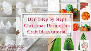 15 diy christmas decoration craft ideas step by step tutorial