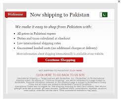 shipping to pakistan retailing giant target is now shipping to pakistan segmentnext