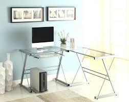 Glass L Shaped Desk Office Depot Glass L Shape Desk Interque Co