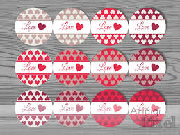 printable stickers valentines printable valentines day label template love round stickers red