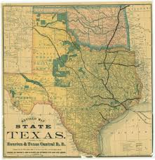 Southern Mexico Map by 1876 Houston And Central Railway Map Of Texas And Indian Territory