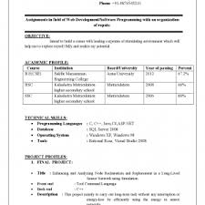 Resume Format For Computer Science Engineering Students Freshers Cover Letter Resume Format For Diploma Freshers Resume Format For
