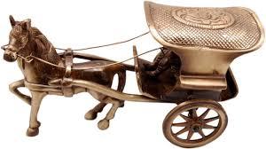 buy two moustaches brass horse cart big showpiece home decor