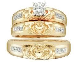 claddagh wedding ring set wedding ring sets gallery lovetoknow