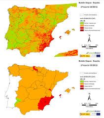 Iberian Peninsula Map Launch Of Infosequía Es Web Portal On The Drought Status Of The