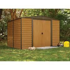 arrow shed woodridge 10 x 8 ft steel storage shed hayneedle