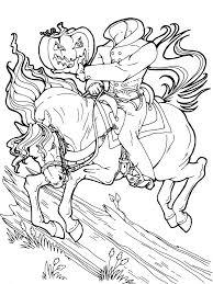 halloween tigger headless horseman coloring coloring pages