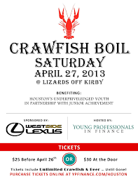 westside lexus houston tx service young professionals in finance crawfish boil and fundraiser