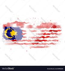 map of malaysia watercolor paint royalty free vector image