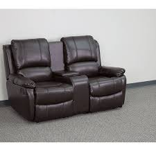 sofa surprising loveseat recliner with cup holders leather