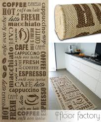 tapis de cuisine tapis de cuisine coffee beige 80x200 cm tapis de couloir