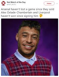 Liverpool Memes - oxlade chamberlain mocked on twitter for liverpool debut daily