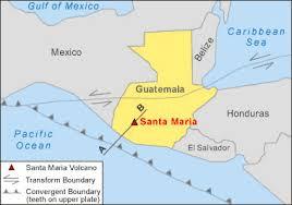 map of santa santa volcano guatemala map facts and pictures