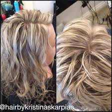 how to blend in gray hair with brown hair full head highlights to blend grey pinteres
