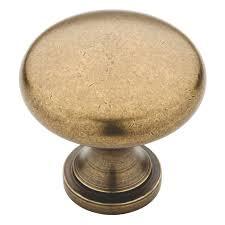 brainerd tumbled antique brass round cabinet knob furniture