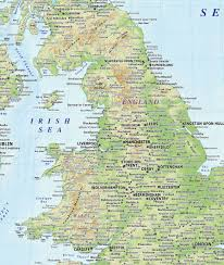 Map Of The British Isles 5m Scale British Isles Country Ezread Regular Relief Map