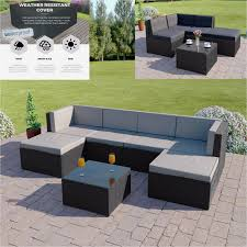 Rattan Table L Rattan Sofa Garden Furniture Lovely Black Rattan Modular Corner