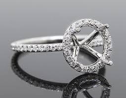 mounting rings images Sie10799 round diamond halo mounting 18kw august stephenson jpg