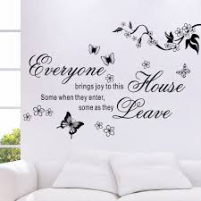 compare prices on wall stickers flowers online shopping buy low home decor bring joys to this house vinyl wall stickers flower quotes butterfly home decor mural