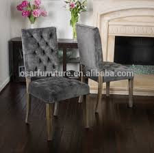 Luxury Dining Chairs Osar French Style Upholstered Louis Button Back Luxury Velvet