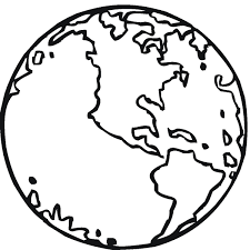 download coloring page of the earth