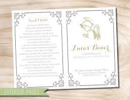 baby funeral program angel baby child infant funeral or memorial program bulletin
