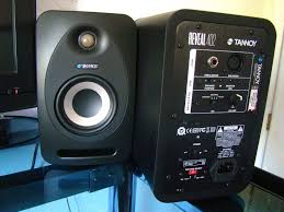 big home theater speakers compact tannoy reveal 402 studio monitors deliver huge sound
