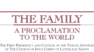family proclamation proclamation on the family