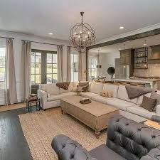 ivory sectional with gray pillows vintage living room living