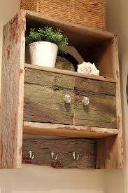 Barn Wood Shelves Diy Barnwood Bathroom Cabinet The Creek Line House