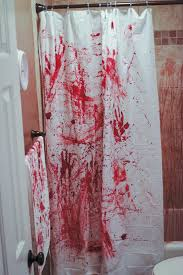 Blood Shower Curtain 3rd Annual Halloween Party Halloween Bathroom Scene And Decoration