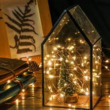 magicfly 8 pack 30 led starry string light battery powered copper