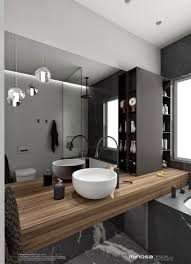 the hero of this bathroom design is the vanity the palette is