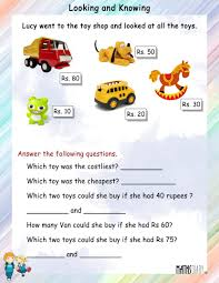 grade 1 math worksheets page 7 looking and knowing workshe koogra