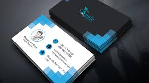Eye Catching Business Cards Clean Modern Business Card Design U2014 Photoshop Tutorial Youtube