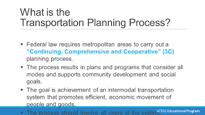 What Is In Law Unit by Unit 1 The Transportation Planning Process And The Role Of The Mpo
