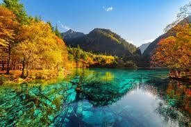 image jiuzhaigou park china valley autumn nature mountains parks