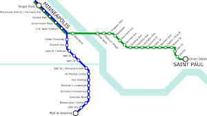 Dc Metro Blue Line Map by List Of Metro Minnesota Light Rail Stations Wikipedia